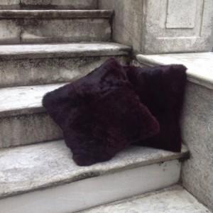 Genuine Rabbit Fur Pillows