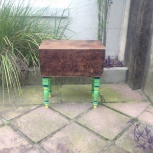 Antique Trunk on Painted Legs