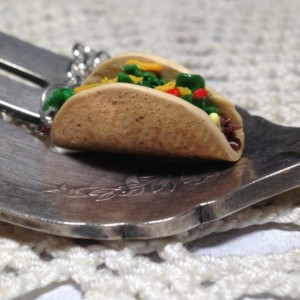 Miniature Clay Taco Necklace