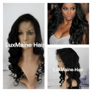 VIRGIN LACE FRONT WIG, BRAZILIAN LOOSE CURLY 18