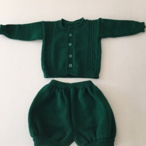 green infant  two-piece outfit