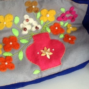 Tote Bag with Vase of Flowers