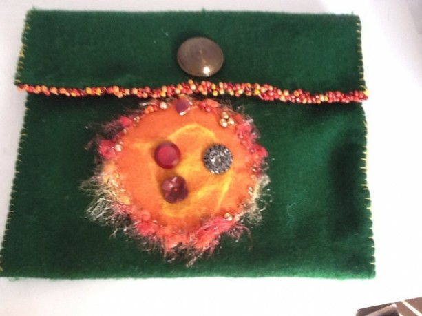 Felt Tablet Cover with Cord Pocket