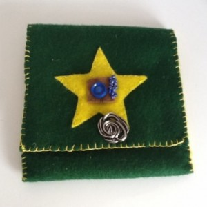 Green Mini Bag with ?Yellow Star