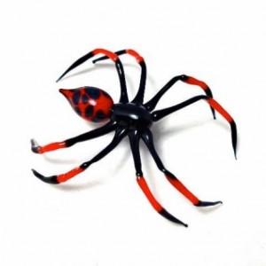 Fire Glass Spider sculpture