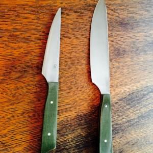 """7"""" Green Micarta Chefs Knife"""