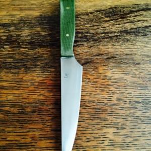 "5"" Green Micarta Paring knife"