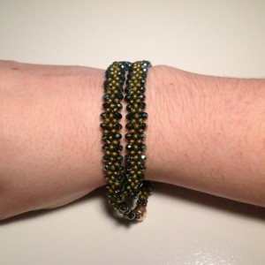 Green Double Wrap Bracelet