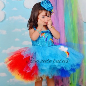 Rainbow Dash Tutu Dress
