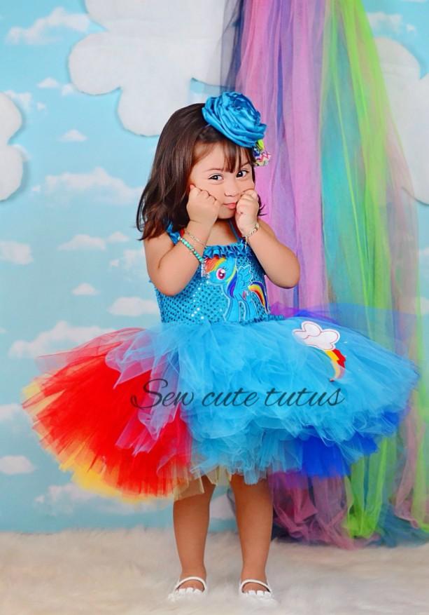 Rainbow Dash Tutu Dress
