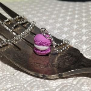 Miniature Magenta Macaron Necklace