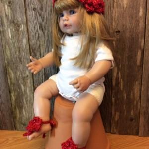 Barefoot Sandals and Flower Headband