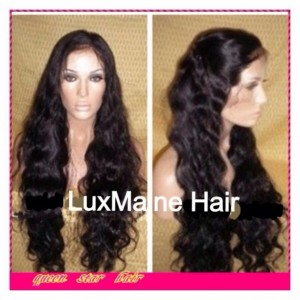 "VIRGIN LACE FRONT WIG, BRAZILIAN NATURAL WAVE 12""14""16"" You Choose 150%Density"