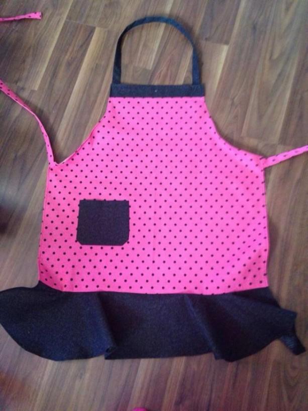 Pink Polka Dot Apron
