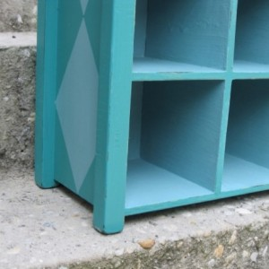 Harlequin Hand Painted Cubby