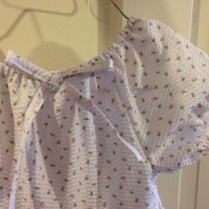 Girls 3T Tiered Dress White with Pink Rosebuds