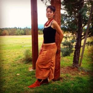 Organic Maxi Cinch Skirt