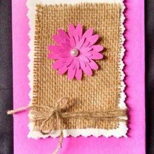 2-Violet burlap cards
