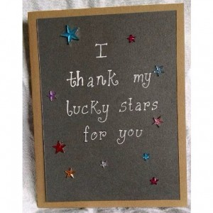 Lucky stars card (2-pack)