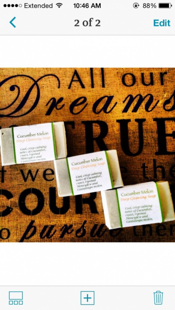 Cucumber Melon Soap 2 for $12