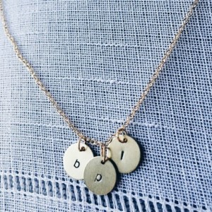Gold Initial Trio Necklace