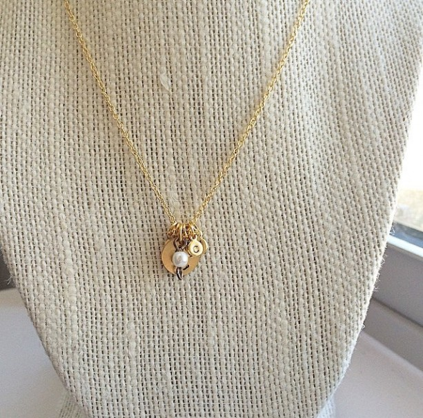 Family Initial Necklace-Mother's/Brag Necklace with Bead