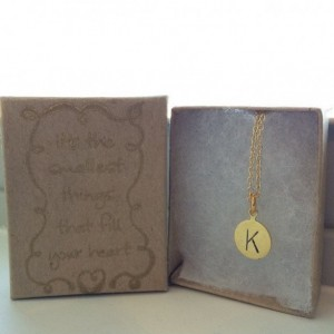 Initial Necklace on Gold Chain