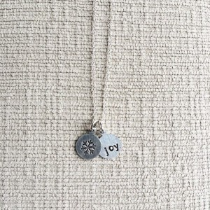 Sterling Silver Dainty Chain with 2 Custom Pendants