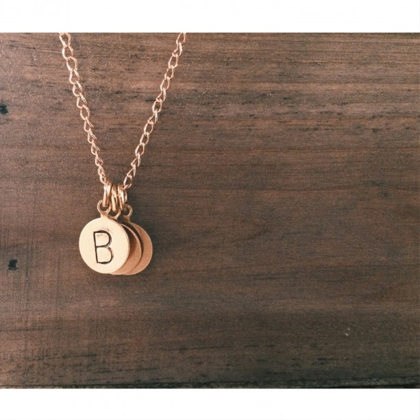 Gold Initial Necklace {Up to 3 Initials}