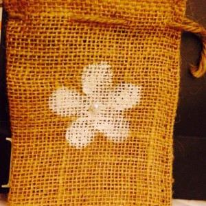 6 - Burlap gift sacks