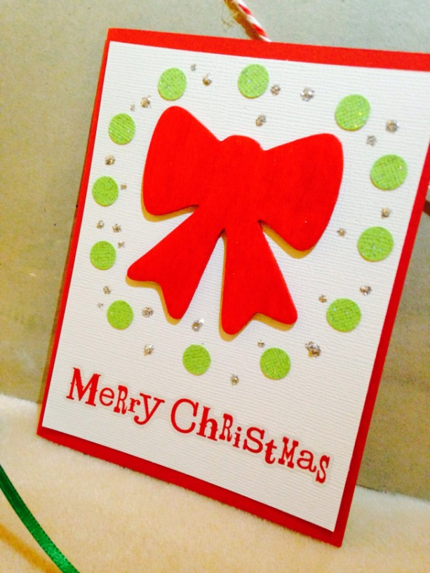 2 Ribbon Christmas Cards