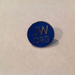 4 JW.ORG Lapel Pins, Custom Button. Blue Round