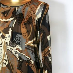 Chocolate Thunder Long Sleeved Silk Women's Shirt
