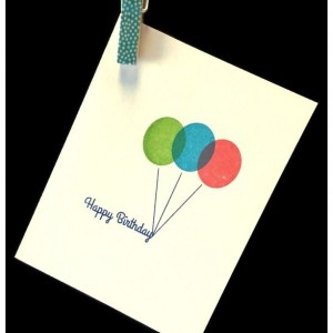 Balloons Birthday Cards (2 pack - Bright and Pastel)
