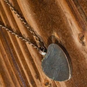 Pressed flower necklace