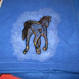 SNUGGIE: Handpainted with Horses coming & going