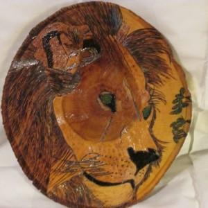 woodburning- Male Lion or White Bengal Tiger wall hanging