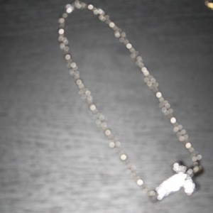 Fishing tackle necklace with Cross
