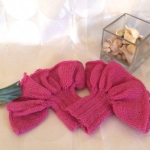 Knitted Pink Wrist Warmers