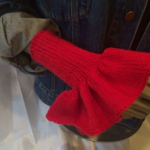 Knitted Red Wrist Warmers