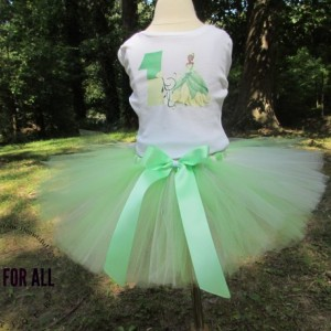 Princess and the frog tutu set