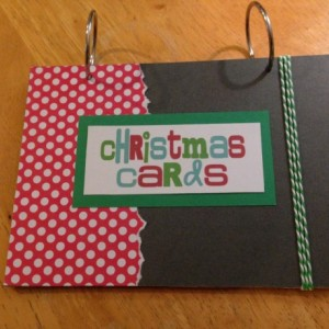 Christmas Card Keepsake Book
