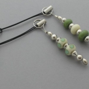 Phone & Tablet Dust Plugs - Olive & Ivory