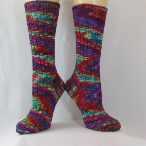 Tons of Color Hand Cranked Socks-Free Shipping