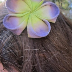 Purple and Green Kanzashi Fascinator