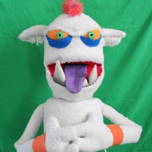 Oleg the Powerful Handmade OOAK Puppet Monster Custom Fun for Everyone half-body