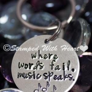 Music Speaks Key Chain