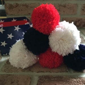 Red, White and Blue Indoor Snowball Fight
