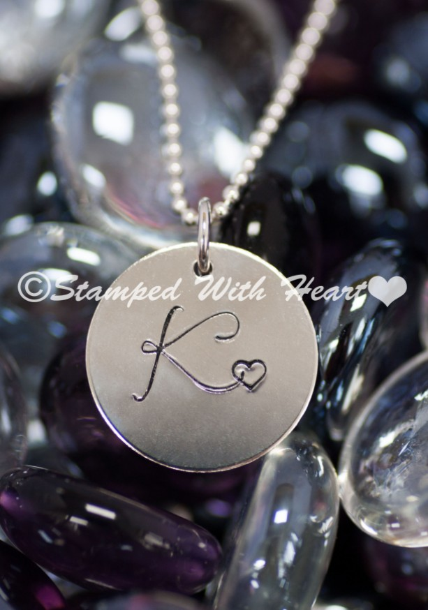 Elegant Monogram Charm With Chain
