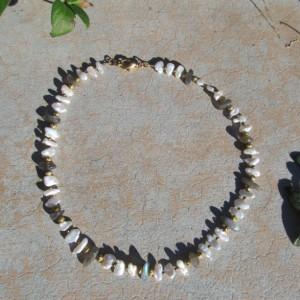 Pearl & Labradorite Necklace